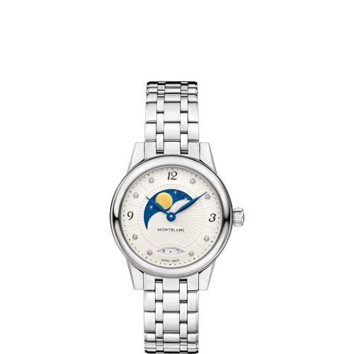 MONTBLANC - Bohème Moonphase with Diamonds Quartz - Dámske luxusné hodinky