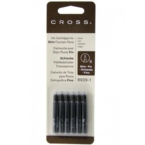 CROSS - Atramentové bombičky Slim - čierne