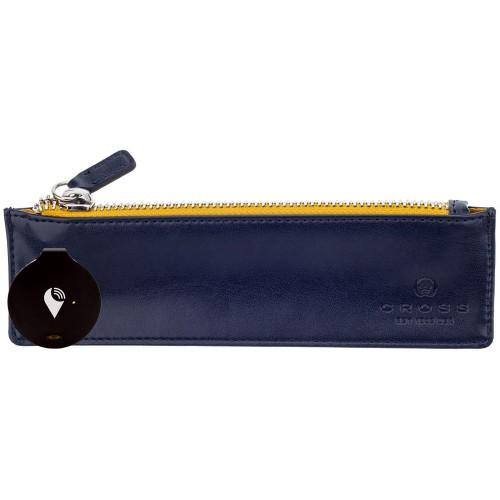 CROSS - TrackR Classic - Blue - Kožené puzdro s trackovacim systémom