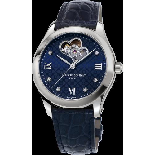 FREDERIQUE CONSTANT - Ladies Watch Diamonds Double Heart Navy Blue Automatic - Dámske hodinky