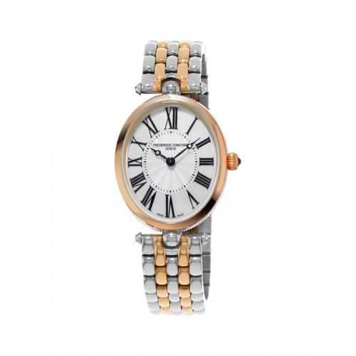 FREDERIQUE CONSTANT - Classique Art Deco Oval White Bicolor RG - Dámske hodinky
