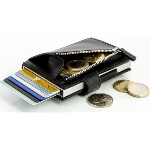 OGON - CASCADE ZIPPER SNAP Black - Kaskádová peňaženka na mince, karty a bankovky