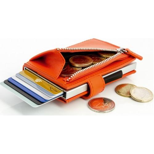 OGON - CASCADE ZIPPER SNAP Orange - Kaskádová peňaženka na mince, karty a bankovky