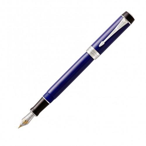 PARKER - Duofold Classic Blue & Black CT - PP Centennial -M-  - Plniace pero