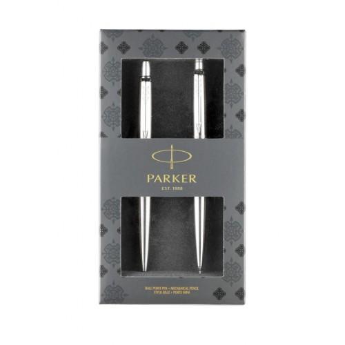 PARKER - Jotter Gift set Stainless Steel BP + MC - GP + MC - Guľôčkové pero + mech. ceruzka