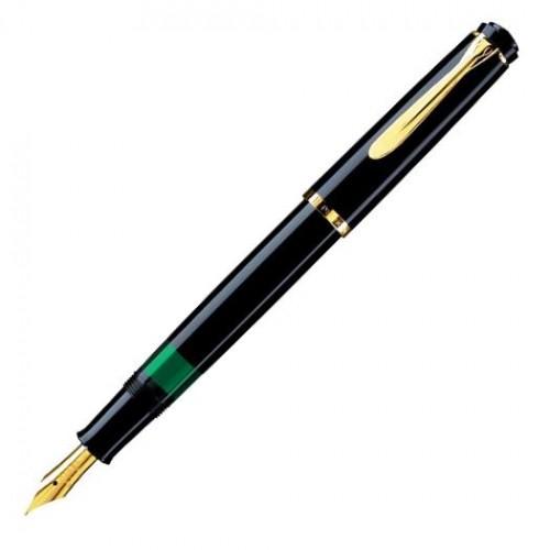 PELIKAN - M200 ELEGANCE Classic Gold Black - Plniace pero hrot M - Piestový mechanizmus