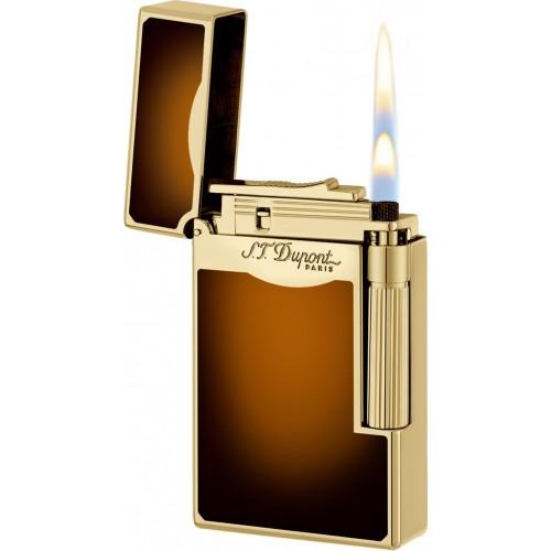 S.T. DUPONT - LE GRAND Sun Burst Brown Natural Lacquer - Zapaľovač na cigary