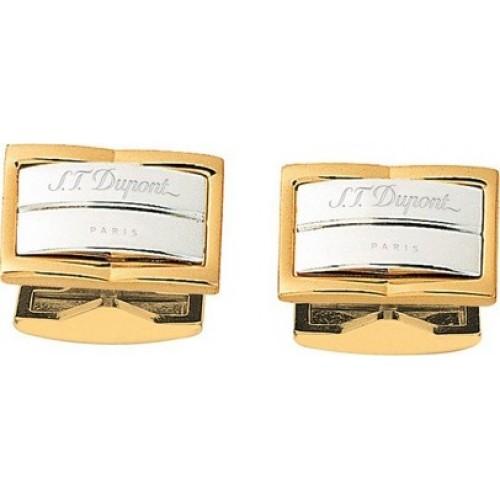 S.T. DUPONT - GATSBY Palladium & Yellow Gold Cufflinks - Manžetové gombíky