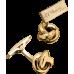 S.T. DUPONT - ROUND BALL Yellow Gold Cufflinks - Manžetové gombíky