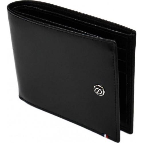 S.T. DUPONT - Line D Black Wallet 6cc - Kožená peňaženka na karty
