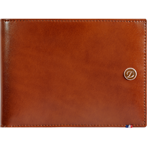 S.T. DUPONT - Line D Wallet 6cc Brown - Kožená peňaženka na karty
