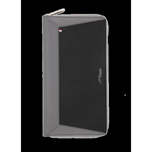 S.T. DUPONT - Line D CAPSULE Black Grey - Cestovná peňaženka
