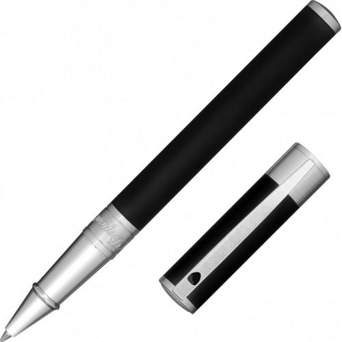 S.T. DUPONT - D-INITIAL Matt Black & Chrome RP - Rollerové pero