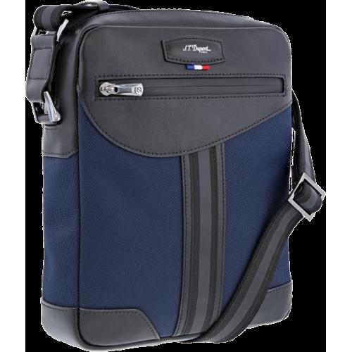 S.T. DUPONT - DÉFI MILLENIUM CROSS OVER BAG 2 Blue-Black - Mestská taška