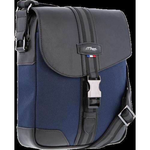 S.T. DUPONT - DÉFI MILLENIUM CROSS OVER BAG 3 Blue-Black - Mestská taška