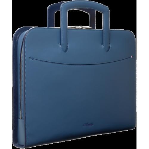 S.T. Dupont - Line D SLIM Light Blue Document Holder - Ultra tenká taška na dokumenty
