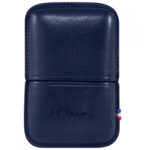 S.T. DUPONT - Line 2 Navy Blue - Kožené puzdro na zapaľovač